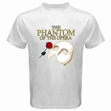 The Phantom of The Opera Broadway Show Musical Men's White T-Shirt Size S To 3XL  Fashion Men T Shirts Round Neck