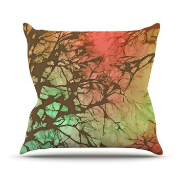 "Alison Coxon ""Fire Skies"" Throw Pillow"