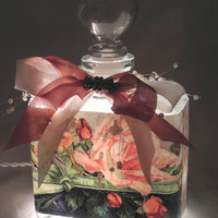 Green Ribbon Perfume Bottle Nightlight ( Night Light )