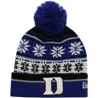 promo code ab70e 97ab2 New Era Duke Blue Devils Pom Blitz Knit Hat - Duke Blue