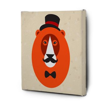 Hipster Animals Pictures Canvas Wall Art Decal Painting Prints Lion