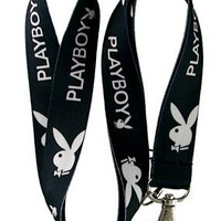 Playboy (Black/White) Lanyard Keychain Holder