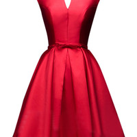 Sweet Red Bow Party Dress