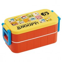 Snoopy 2-Compartment Bento Lunch Box 600ml with Chopsticks for Ben...