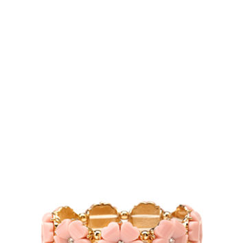 FOREVER 21 Girly Glam Stretch Bracelet Gold/Pink One