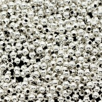 300 Silver Plated Spacer Beads 2mm €1.50