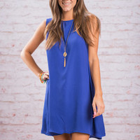 Set Sail Dress, Royal Blue