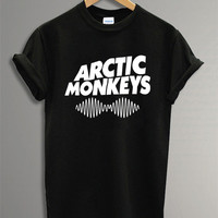 New Arctic Monkeys Shirt The Arctic Monkeys t-Shirt Symbol  Black and White  For Men Or Women Size TS21