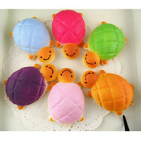 1 pcs Random Squishy Charms Cellphone Soft Colorful Tortoise Charms Bread Straps
