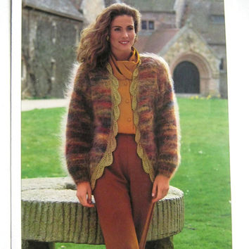 Vintage Hayfield Pattern 4042, Knitting Pattern, Mohair and Next Edition Knitting Pattern, Lady's Jacket Pattern, Vintage Knitting Patterns