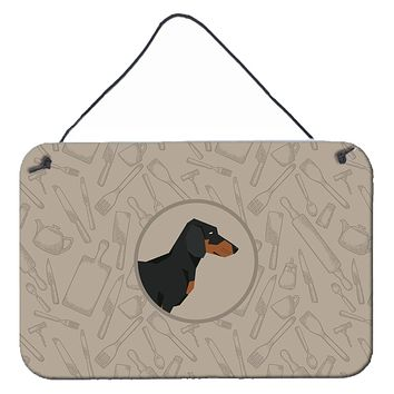 Dachshund In the Kitchen Wall or Door Hanging Prints CK2180DS812