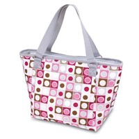 Picnic Time Topanga Insulated Cooler Tote, Pink Geo