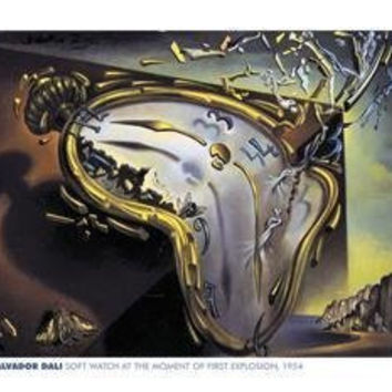 SALVADOR DALI POSTER Soft Watch Explosion HOT NEW 24X36