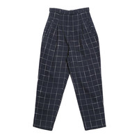 Windowpane Check Chic Pants