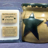 Campfire S'mores Soy Wax Melt - Hand Poured and Highly Scented Soy Wax Tart
