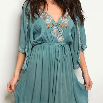 Toujours Dress in Sage