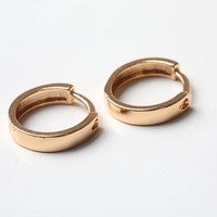 Gold Jewelry Earrings Gold Minimalist Earrings Gold Hoops Hoop earrings Golden Circle Earrings Gold Tone Tiny gold Jewelry Gift For Her