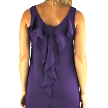 Sleeveless Bow Back Dress - Purple