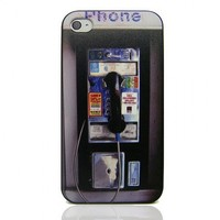 Phone Booth Embossment Iphone4/4s Case by Hallomall