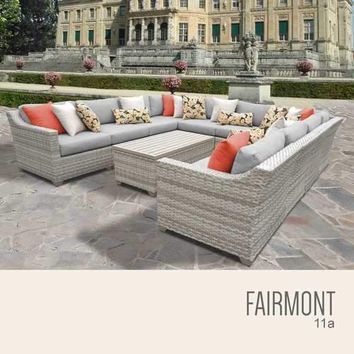 Fairmont 11 Piece Outdoor Wicker Patio Furniture Set 11a