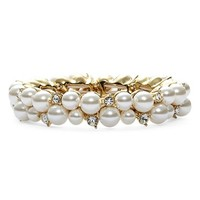 Women's Anne Klein Faux Pearl Stretch Bracelet