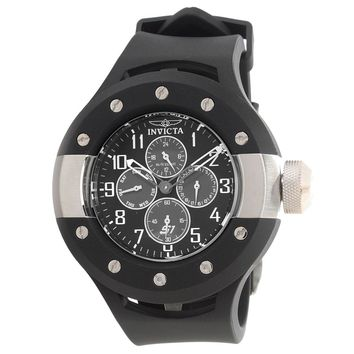 Invicta 17384 Men's S1 Rally Black Dial Black Rubber Strap Watch
