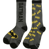 DC Comics Batman Crew Socks 2 Pack