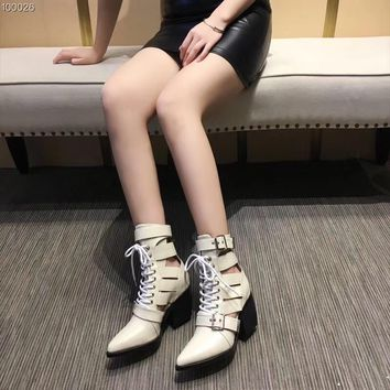 Chloe Women Fashion Casual Heels Shoes Boots