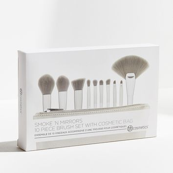 bh cosmetics Smoke 'N Mirrors 10 Piece Metalized Brush Set | Urban Outfitters Canada