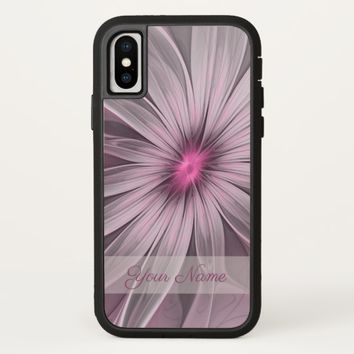 Pink Flower Waiting For A Bee Abstract Name iPhone X Case