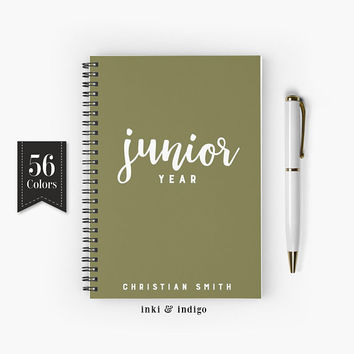 Junior Year - Spiral Notebook, Lined Journal, A5 Writing Journal, Diary, Personalized Notebook, Gift For Students, High School, College