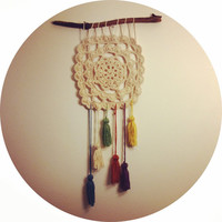 Crochet Dream Catcher Wall Art Home Decor