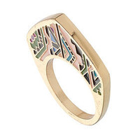 Aztec Print Ring - New In This Week  - New In  - Topshop