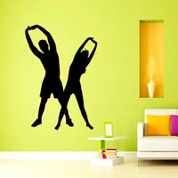 Man Woman Sport People Gym Fitness Yoga Decal Vinyl Sticker Decor Home Interior Design Art Murals M794