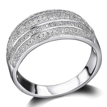 Wedding for women Setting with Cubic Zirconia Nice Trendy ring Free Shipping