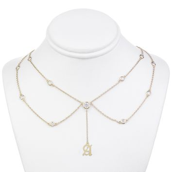 Kylie Old English Initial Choker