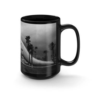 California Dinosaur Coffee Mug - 15oz Black Ceramic