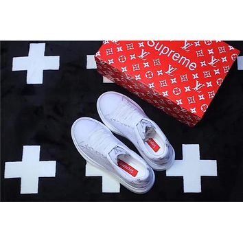 LV X SUPREME X MCQUEEN All White Men and Women Sneaker