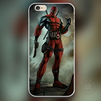 Marvel hero Deadpool Phone Case for iPhone 7 6 6S Plus 4 4S 5C 5 SE 5S