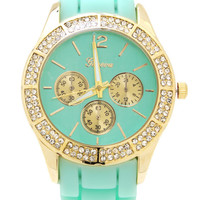 embellished-silicone-watch MINTGOLD - GoJane.com