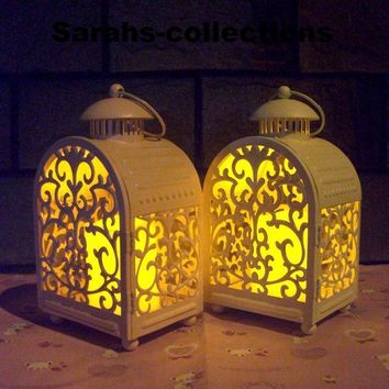 Moroccan Decor Pretty Furnishing Articles Hollow Out Iron Candle Holders Metal Candlesticks House Wedding Decoration