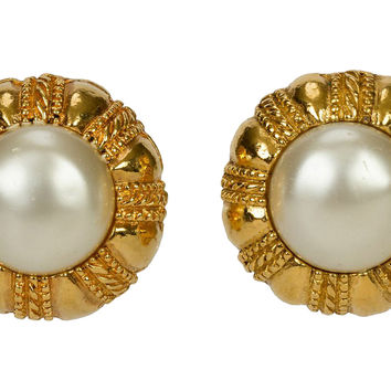 Chanel Mabe Faux-Pearl Earrings