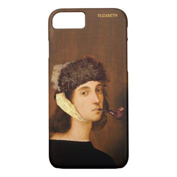 Raphael Self Portrait With Van Gogh Hat And Pipe iPhone 7 Case