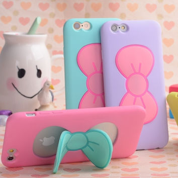 3d Butterfly Bow Soft Tpu Silicon Case For Iphone 6 6 Plus 6S 6S Plus