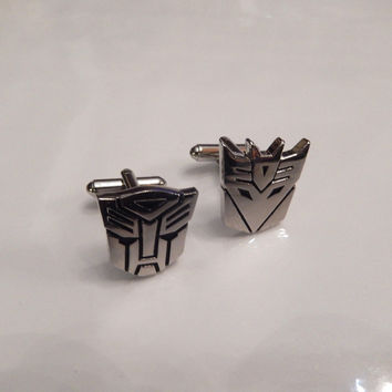Transformer Cufflinks, Autobot Cufflinks, Decepticon Cuff Links, Wedding Cuff Links, Father's Day, Graduation
