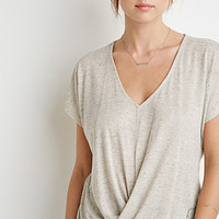 Twist-Front Marled Tee