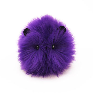 Bart the Purple Guinea Pig Stuffed Animal Toy Plushie -  4x5 Inches Small Size