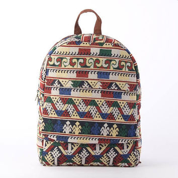 Everyday Backpack, Carry on Bag, Book Bag, Aztec Daycare Bag, Ethnic Backpack, Utility Backpack, Rucksack