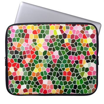Colorful Mosaic Pattern Laptop Sleeve