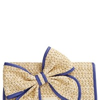 kate spade new york 'belle place - viv' straw clutch